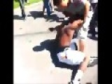 Latino Vs Black Guy Fight In A California Neighborhood