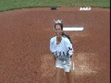 LOL Miss Texas Throws A WILD First Pitch