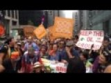 Leonardo DiCaprio Marches With Indigenous Groups In NYC