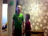 Little Kid Wipes Poop On His Brother's Face