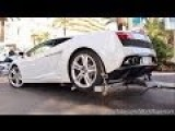 Lamborghini Gallardo Being Badly Towed