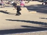 Loose Skateboard Hits Bystander In The Face