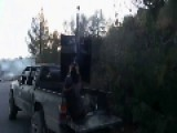 Lucky FSA Group And Their Technical Pick-Up Escape From A Barrel Bomb