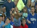 Little Boy Jumps Up To Snatch Baseball Right In Front Of Woman