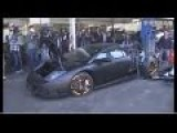 Lamborghini Murcielago Being Destroyed By The Taiwanese Government