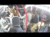 London Racist Attack - CCTV Of Five Blacks Attacking A White Woman On Bus At London Bridge