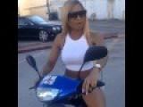 Lisa Crashes Her Punk Ass Moped