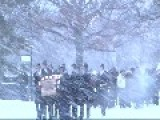 Lt. Col. Neumann's Funeral, Even A Winter Storm Can't Stop The Old Guard From Its Duty!