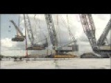 Liebherr Mobile Cranes Lift Each Other, Showing Off Their Sheer Strength