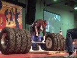 Lifting 1117 Pounds Of Hummer Tires