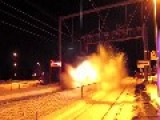 Man Films Himself Being Hit By Snow As Train Speeds Past
