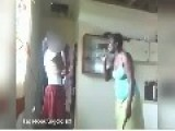 Mother Beating Her Daughter For Having An Account On Facebook