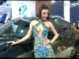 Model In Diamond Dress Shows Up At Auto Show