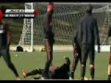 Mario Balotelli Wrestles Niang To The Ground On Ac Milan Training