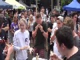 Model Destroys Sausage Eating Competition
