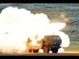 Marines Fire M142 High Mobility Artillery Rocket System - HIMARS Multiple Rocket Launcher In Action