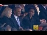 Michelle Obama Got Jealous And Made Obama Switch Seats At Nelson Mandela Memorial President Obama, Cameron Take A Selfie Nelson Mandela