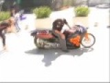Man Rides The **WORLD'S FASTEST ELECTRIC MOTORCYCLE** =should Of Worn A Helmet =