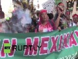 Mexico: Watch Thousands March For Missing 43 In Mexico City