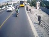 Motorcycle Hit A Car