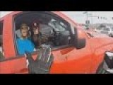 Man Points Gun At Motorcyclist