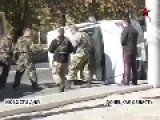 Man In A Squirrel Suit Helps Rescue Members Of The Neo-Nazi AZOV Battalion From Car Accident In Mariupol