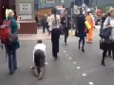 Man On A Lead Gets Walked Like A Dog Through London Streets