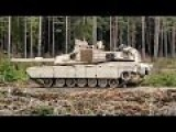 M1A2 Abrams Tanks Conduct Live Fire Exercise In Estonia