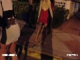 Man Fights Girl Over Missing Chain - Wild Street Fight