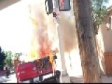Man Drives Burning Pickup Truck Through Streets Of Albuquerque