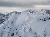 Massive Avalanche Above Stevens Pass