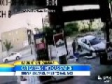 Man Survives Crash Into Gas Station, Hails Taxi