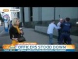 Man Arrested Behind Reporter During Live Tv