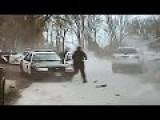 Man Rams Police Cars In Iowa