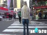 Model Walks Around NYC With Painted On Pants!