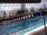 Mexico City 7.2º Richter Scale Earthquake At A Pool!!!
