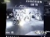 Man Brings Bottle To A Gun Fight In Thailand