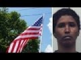 MUSLIM In Burka ATTACKS Innocent American Family With THEIR OWN American Flag
