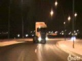 Mega Long Drift On Icy Road..... Scania In Action