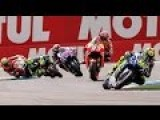 MotoGp Silverstone 2015- The Fight Between Lorenzo Marquez And Rossi