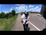 Motorcycle Crashes Into Truck On Highway