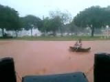 Making The Most Of A Flood In Palmas - Tocantins, Brazil