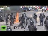 Mexico Violence: Protesters Armed With Bats, Metal Pipes & Machetes Clash With Riot Police
