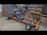 Making A Motorised Go Cart With NO WELDER And Simple Tools #1 - Chassis Engine