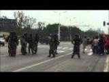Mob With Metal Pipes Chase And Beat Riot Police