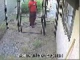 Man Tosses Unwanted Dog Over Fence - Caught On Camera