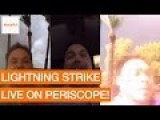 Man Narrowly Escapes Lightning Strike, Casually Continues To Livestream