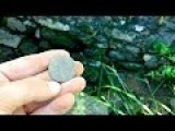 Metal Detecting An Ancient Rock Wall In Portugal