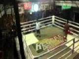 Muay Thai Fight. BRING OUT THE CHAIR!!