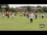 Muslims V Christians Battle It Out In Dewsbury, West Yorkshire UK
